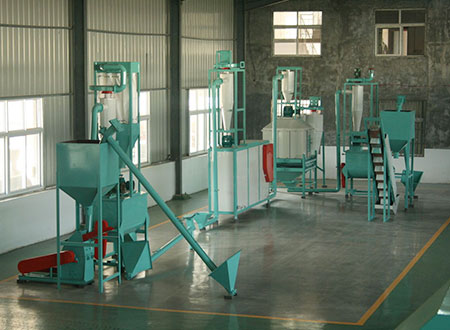 small fish feed pellet production line
